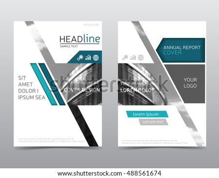 Annual Report Cover Brochure Template Vector Stock Vector - Design brochure templates