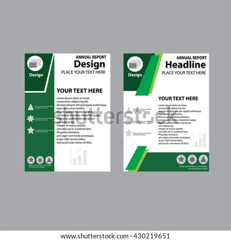 Annual Report Cover Design   Report Template Design ,flyer Cover Design  Template A4 Magazine Vector  Annual Report Template Design
