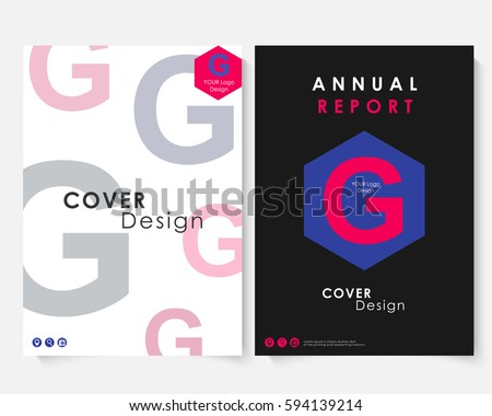 Annual Report Cover Design Template Brochure Stock Vector 594139214
