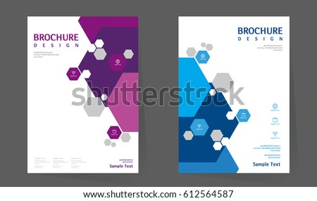 Annual Report Design Layout Book Cover Vector 612564587 – Simple Annual Report Template