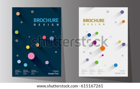 annual report design layout book cover stock vector royalty free