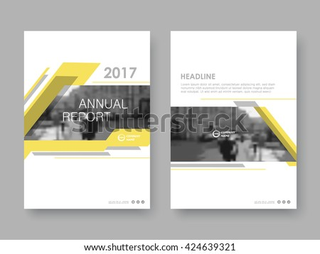 Annual report, flyer, presentation, brochure. Front page, book cover layout design. Design layout template in A4 size . Abstract yellow templates - stock vector