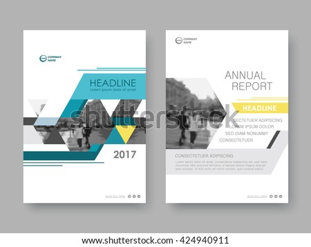Annual report, flyer, presentation, brochure. Front page report , book cover layout design. Design layout template in A4 size . Abstract yellow green cover templates - stock vector