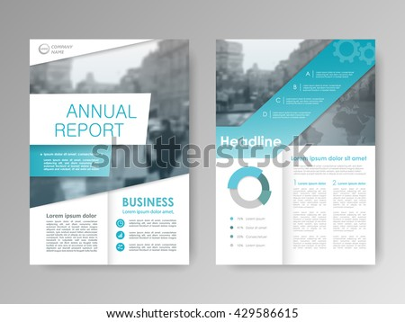 brochure front cover design - flyer design business brochure template annual stock