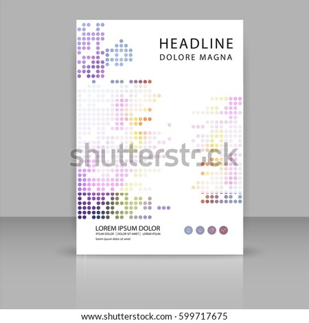 Annual Report Leaflet Brochure Presentation Book Vector – Book Report Cover Page Template