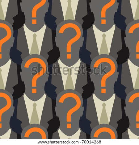Anonymity in the web - seamless pattern - stock vector