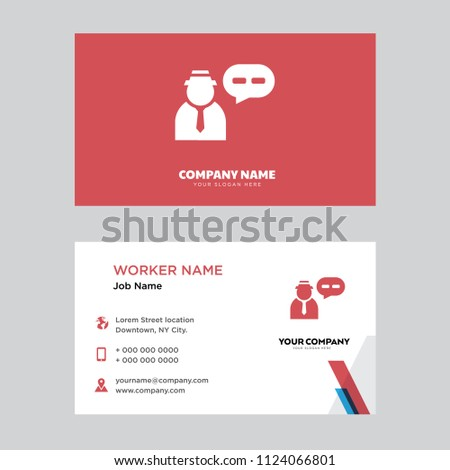 Anonymous message business card design template stock vector anonymous message business card design template visiting for your company modern horizontal identity card colourmoves