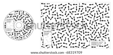 ant cd/dvd cover - stock vector