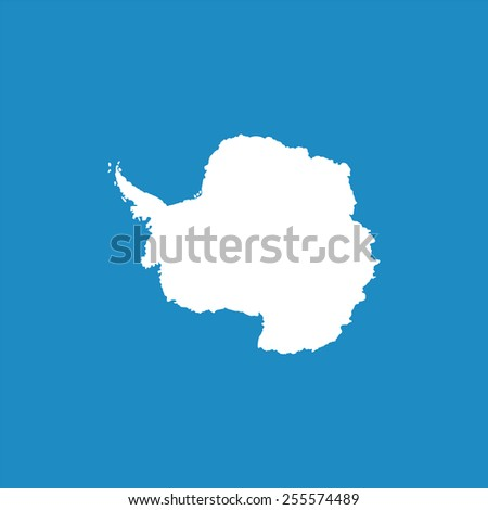 Antarctic continent highly detailed. Vector - stock vector