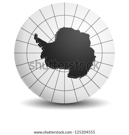 Antarctic globe - stock vector