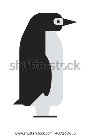 Antarctica polar penguin, beak pole winter penguin. Funny outdoors wild life south penguin character arctic. Emperor penguin cute animal and nature cold cartoon flat antarctica bird character vector. - stock vector