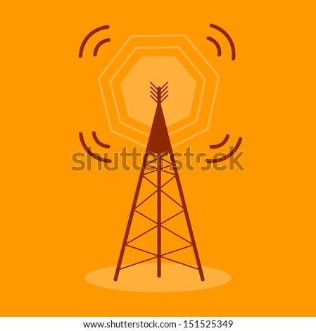Antenna Communication Icon - stock vector