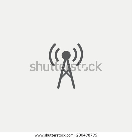 Antenna icon - stock vector