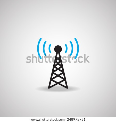 Antenna Satellite dish and technology icon  - stock vector