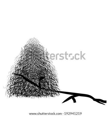 Anthill on white background