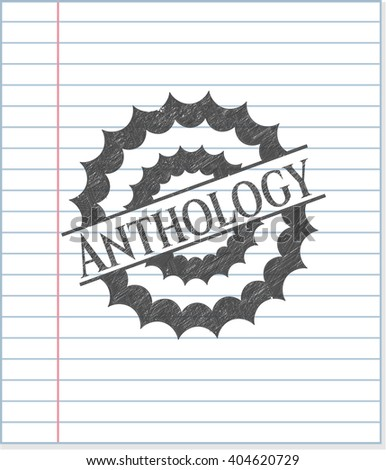 Anthology drawn with pencil strokes - stock vector