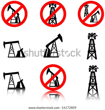 Anti oil drilling graphics.