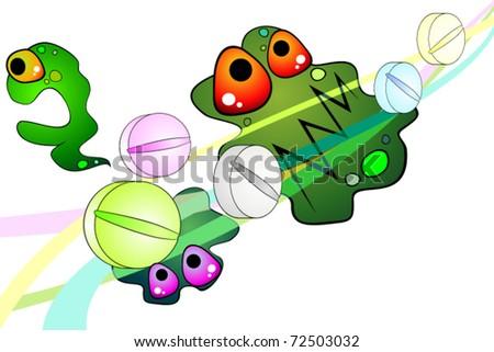 Antibiotic - stock vector