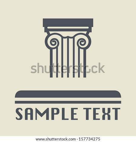 Antique architecture icon or sign, vector illustration - stock vector