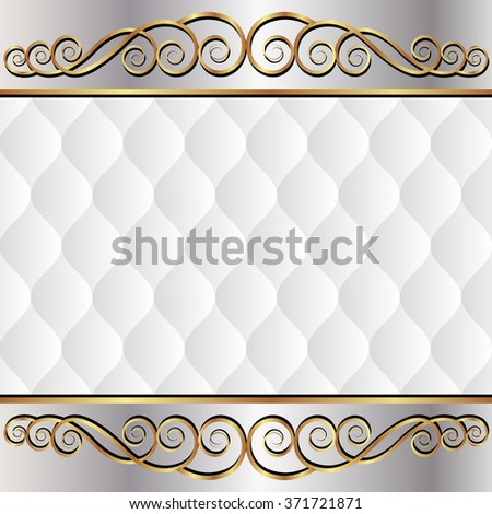 antique background with golden ornament - stock vector