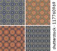 Antique Chinese seamless patterns - stock vector