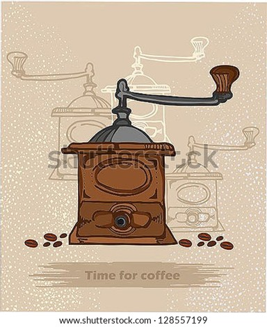 antique coffee makers - stock vector
