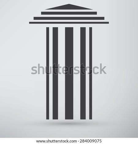 Antique Column Icon - stock vector