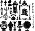 antique objects vector - stock vector