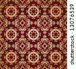 Antique ottoman seamless wallpaper vector design - stock vector