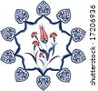 Antique ottoman turkish vector tile design - stock