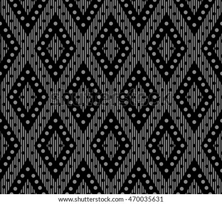 Antique seamless background 481 rhomb check geometry round dot line