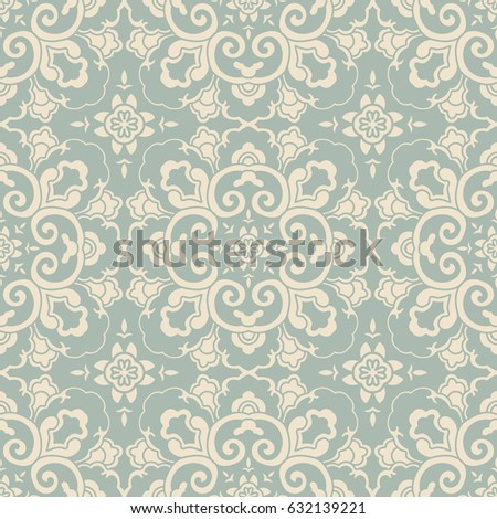 Antique seamless background round curve cross flower