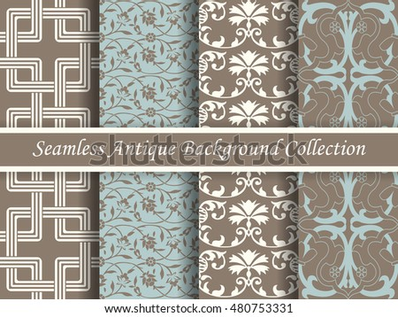 Antique seamless brown background collection