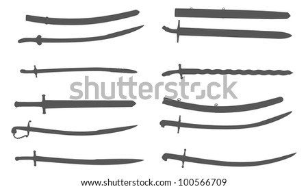 Antique Swords - stock vector