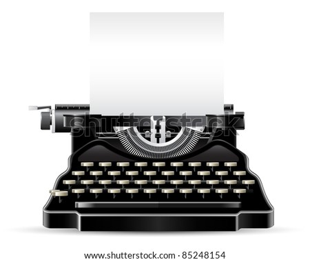 Antique Typewriter - stock vector