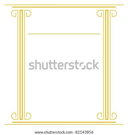 Gold Column Vector Gold Columns Frame Stock