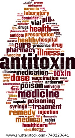 Antitoxin word cloud concept. Vector illustration