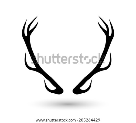 Antlers vector illustration - stock vector