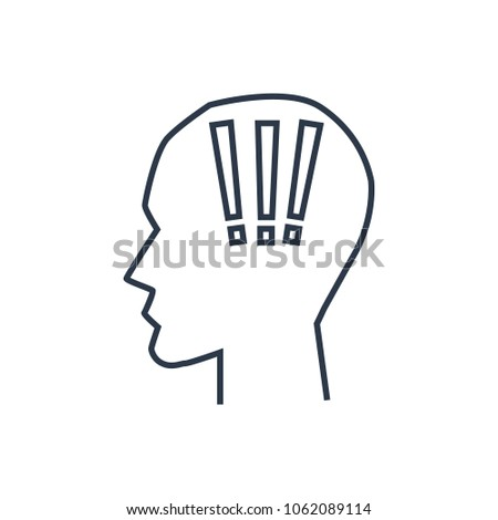 Anxiety Icon Isolated Head Anxiety Icon Stock Vector 1062089114