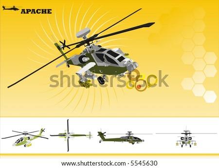 apache vector - stock vector