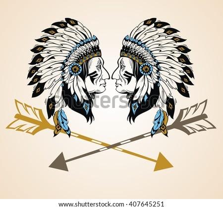 Apaches Mascot - stock vector