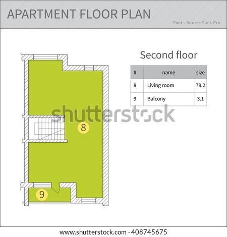 Newminya 39 s portfolio on shutterstock for Apartment stock plans