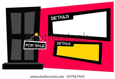 Apartment House Sale Sign Hanging On Stock Vector 507067489 ... on icon house, label house, chart house,