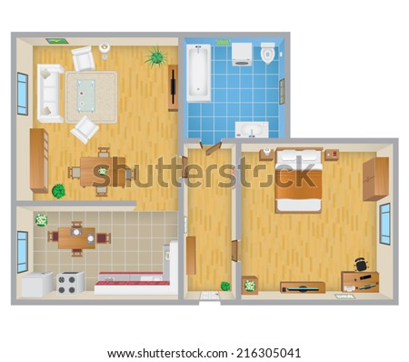 Apartment Plan - stock vector