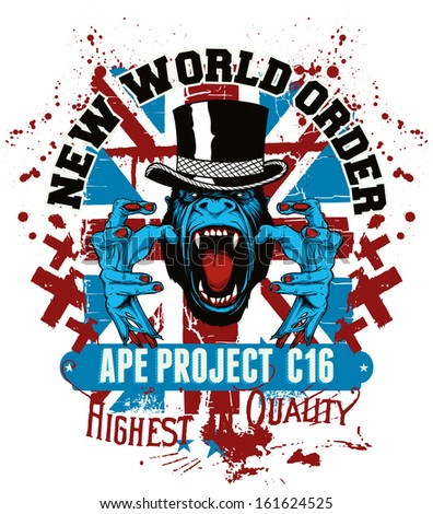 Ape project - stock vector