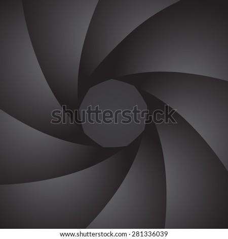 Aperture camera. Petals of the diaphragm. Vector Image. - stock vector