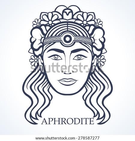 Aphrodite Greek Goddess Beauty Stock Vector Royalty Free 278587277