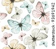 Aporia butterflies (tile-able background) - stock