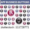 app business buttons vector set - stock vector