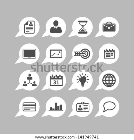 App business icons - stock vector